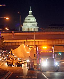 wind turbine blade at Washington DC
