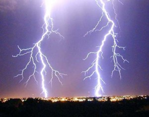 Harnessing lightning strikes electrical charges for electricity