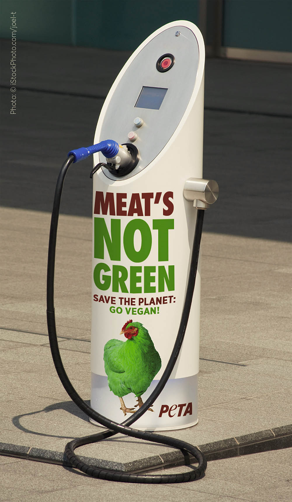 PETA- Boston EV-charge station -vegan