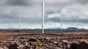 Landscape with Vortex Bladeless wind turbines